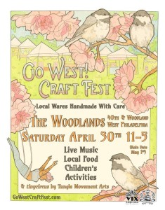 Go West! Craft Fest poster by Sarah Ryan