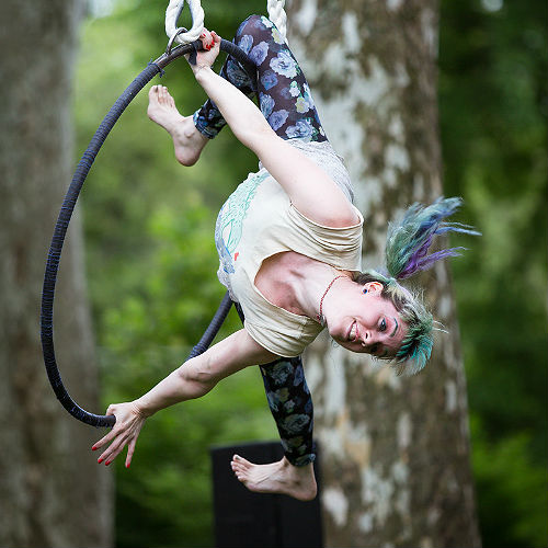 "Tangle presents ""Intersections,"" free circus theater in Clark Park! Photo by Michael Ermilio."