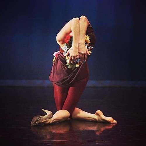 Christina Eltvedt in performance, photo by Bill Hebert